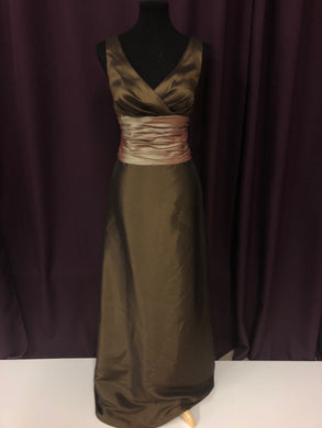 Venus Size 12 Brown Belt  Rushing Formal Dress