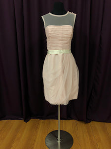 Vera Wang Size 12 Pink Short  Formal Dress
