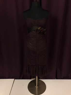 Vera Wang Size 8 Purple Ribbon Short Sash Formal Dress