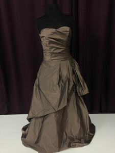 Watters Brides Size 8 Brown Rushing  Formal Dress