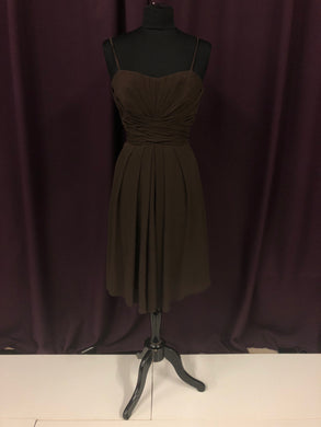 Wtoo Size 12 Brown Strapless Short Formal Dress
