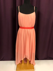 Wtoo Size 12 Coral Belt  Formal Dress
