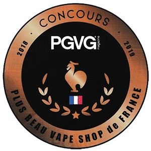 PGVG Best Vape Shop Label