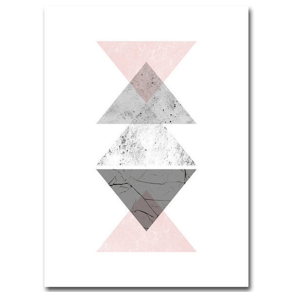 d coration poster toile scandinave triangles gris trendisy d coration int rieure. Black Bedroom Furniture Sets. Home Design Ideas