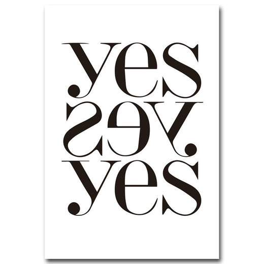 Poster Toile - Yes Yes Yes