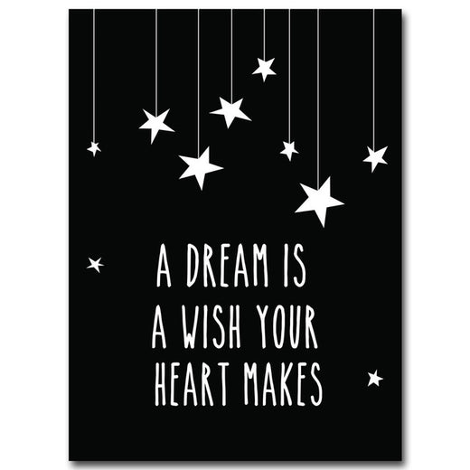 Poster Toile - Citation - A dream is a wish your heart makes
