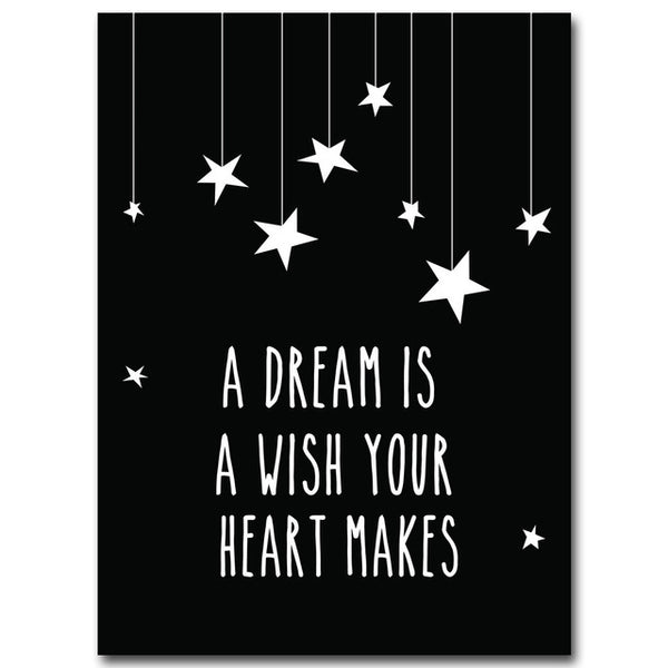 tableau déco toile maison chambre enfant Poster A Dream is a Wish your Heart Makes
