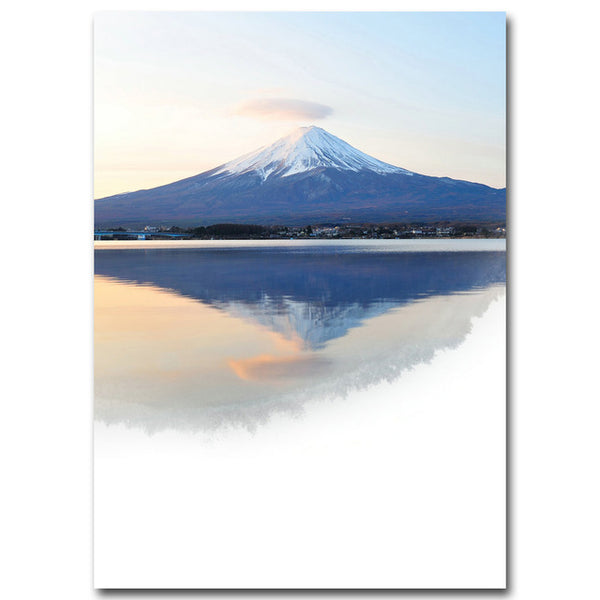 Poster Toile - Mountain & lake miror