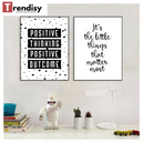 Poster Toile - Positive thinking positive outcome
