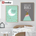 trendisy deco toile chambre enfant tableau i love you to the moon and back