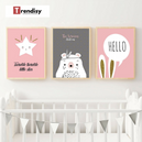 Poster Toile - Lapin Hello