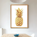 Poster Toile - Ananas Gold