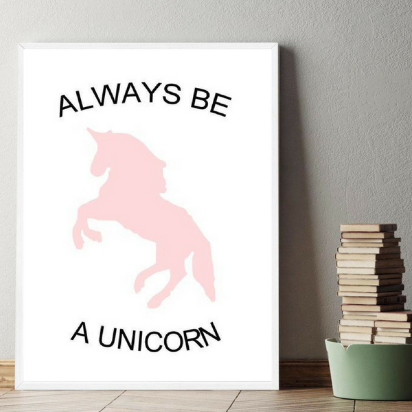 D coration poster toile always be a unicorn trendisy for Toile pour chambre enfant