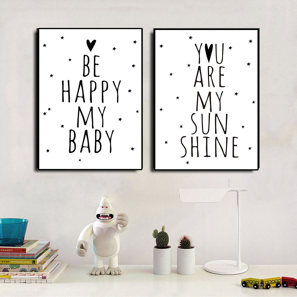 Poster Toile Be Happy My Baby