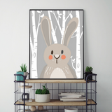trendisy deco toile chambre enfant tableau animaux foret lapin