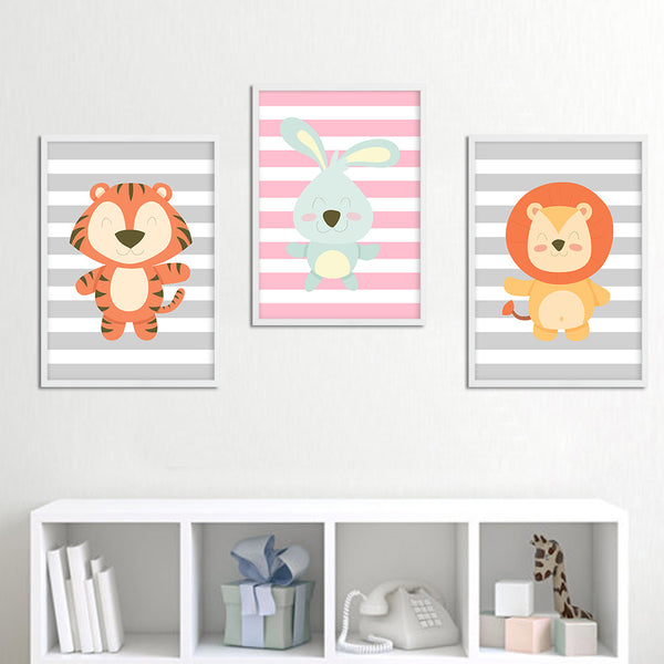 D coration poster toile lapin d co chambre enfant b b for Tableau chambre bebe animaux