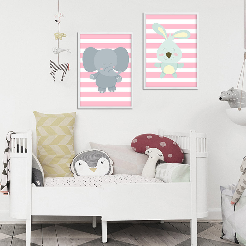 d coration poster toile lapin d co chambre enfant b b. Black Bedroom Furniture Sets. Home Design Ideas