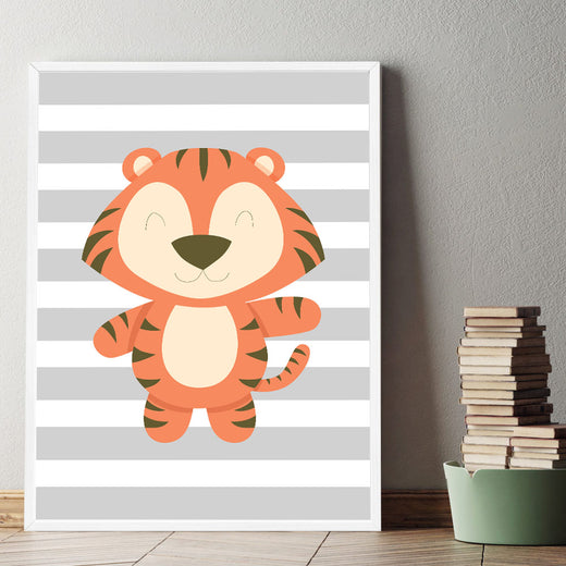 d coration poster toile tigre d co chambre enfant b b. Black Bedroom Furniture Sets. Home Design Ideas