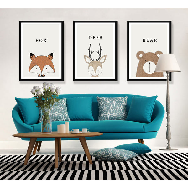 d coration poster toile cerf cartoon trendisy d coration int rieure. Black Bedroom Furniture Sets. Home Design Ideas