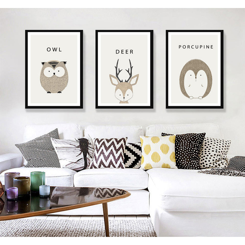 d coration poster toile animaux cartoon trendisy d coration int rieure. Black Bedroom Furniture Sets. Home Design Ideas