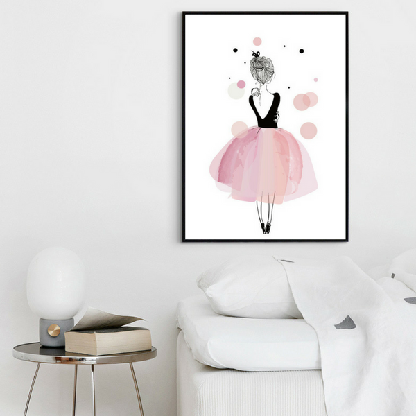 d coration poster toile danseuse toile rose trendisy d coration int rieure. Black Bedroom Furniture Sets. Home Design Ideas