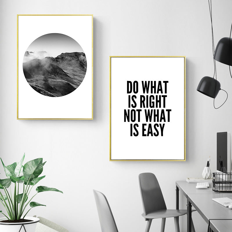 Poster Toile Citation Do What Is Right Not What Is Easy