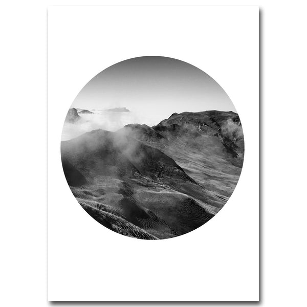d coration poster toile paysage montagne noir blanc trendisy d coration int rieure. Black Bedroom Furniture Sets. Home Design Ideas