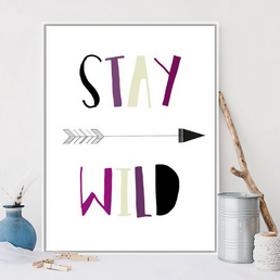 trendisy deco toile chambre enfant tableau stay wild