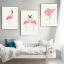 -20% Lot de 3 Posters Toiles - Flamants Roses