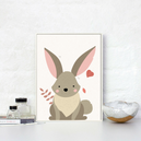 trendisy deco toile chambre enfant tableau lapin sauvage