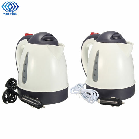 1000ML Car Hot Kettle Portable Water Heater Travel Auto 12V/24V for Tea Coffee 304 Stainless Steel Large Capacity Vehicle - Cozzoo