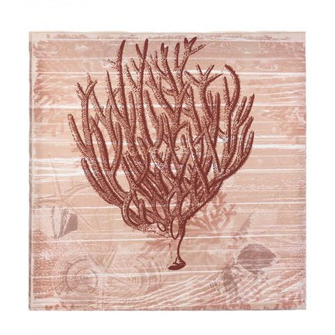 Seaside Coral Canvas Wall Art