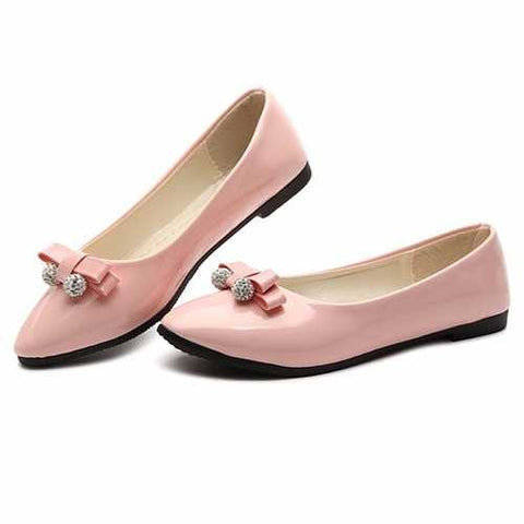 Women Leisure Flats Summer Chic Shoes Lazy Slip-on Loafers Dress Shoes - Cozzoo