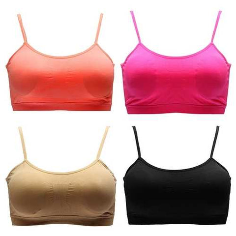 Women's Seamless Elastic Yoga Athletic Sports Bra with Chest Pad - Cozzoo