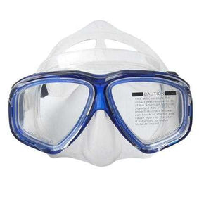 Anti Fog Waterproof Diving Swim Goggles Diving Glasses Face Mask Eyewear Tempered Glass Lens - Cozzoo