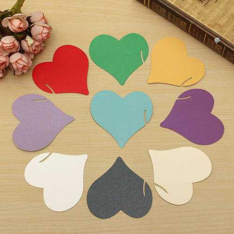 12Pcs Heart Wedding Name Place Cards Wine Glass Laser Cut Pearlescent Card Party Accessories - Cozzoo