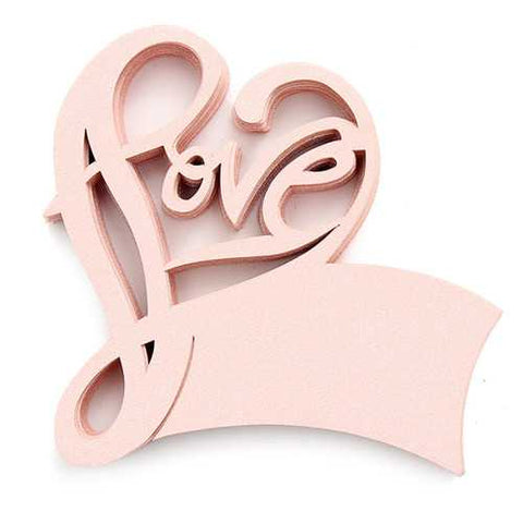 50Pcs LOVE Shape Wedding Name Place Cards  Wine Glass Laser Cut Pearlescent Card Party Accessories - Cozzoo