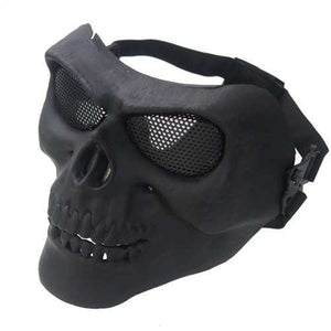 Outdooors CS Face Mask Masque Skull Style Airsoft War Game Guard Protection - Cozzoo