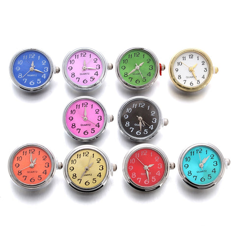 10pcs/lot Glass Watch Snap Buttons Ten colors can move fit 18mm/20mm DIY Snap Bracelet Replaceable Buttons Jewelry - Cozzoo