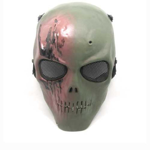 High-strength Engineering TPR Skull Skeleton Full Face Mask With Foam Strap Adjustable For Hallo - Cozzoo