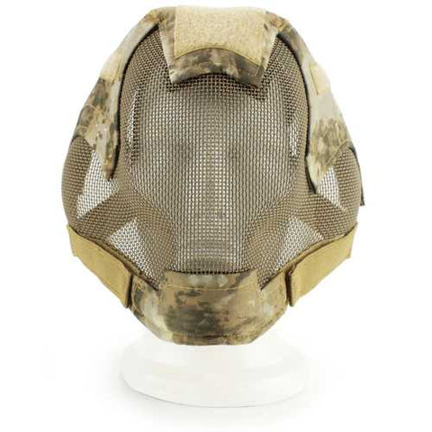 WOSPORT V6 Military Airsoft Paintball Tactical Protection Steel Mesh Full Face Mask - Cozzoo