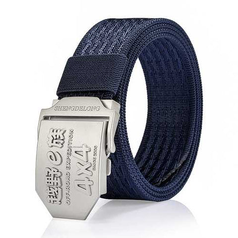 125CM Men Casual Nylon Alloy Buckle Belt Outdoor Sport Army Tactical Jeans Strap - Cozzoo