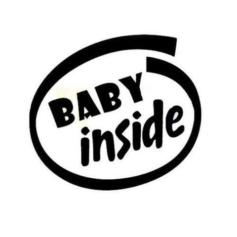 11x12cm Baby Inside Reflective Outdoor Enthusiasts Car Stickers Auto Truck Vehicle Motorcycle Deca