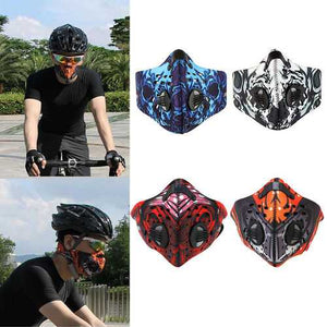 BIKIGHT Activated Carbon Anti Dust Pollution Bike Cycling Half Face Mask Filter - Cozzoo