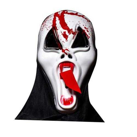 Halloween Bar Haunted Full Face Scary Mask Long Face Tongue Vampire Skull Ghosts Dress Up - Cozzoo