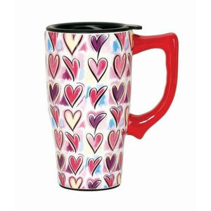 Hearts Travel Mug - Cozzoo