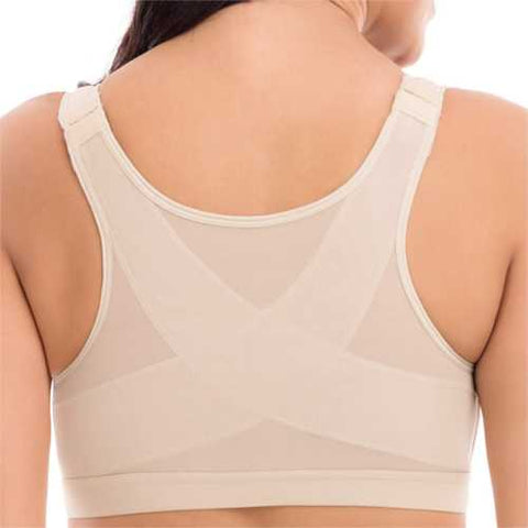 Front Closure Shockproof Adjustable Strap Buckle Yoga Sports Bra - Cozzoo