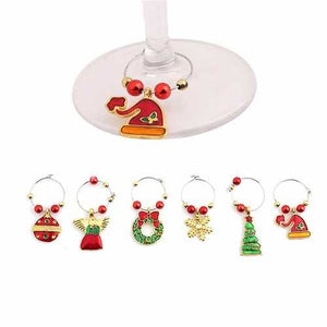Christmas Wine Glass Decoration Charms Party New Year Cup Ring Table Decorations - Cozzoo