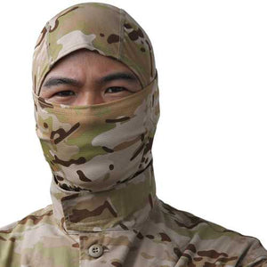 Tactical Full Face Mask Hood Headgear Caps Camouflage Hunting Hat Winter Neck Scarf - Cozzoo