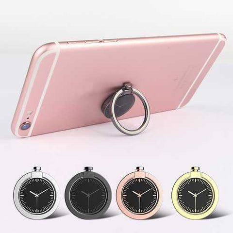 360 Degree Rotation Watch Shape Finger Ring Holder Phone Stand Ring Grip for iPhone Samsung Xiaomi - Cozzoo